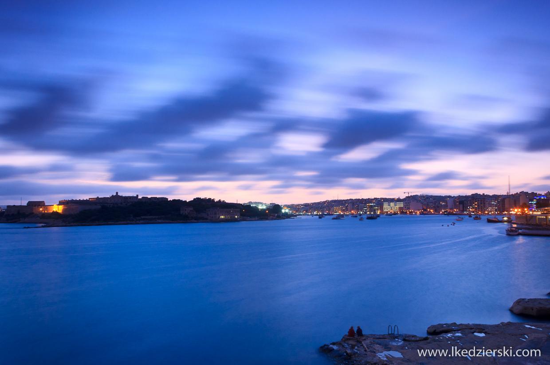 sliema blue hour