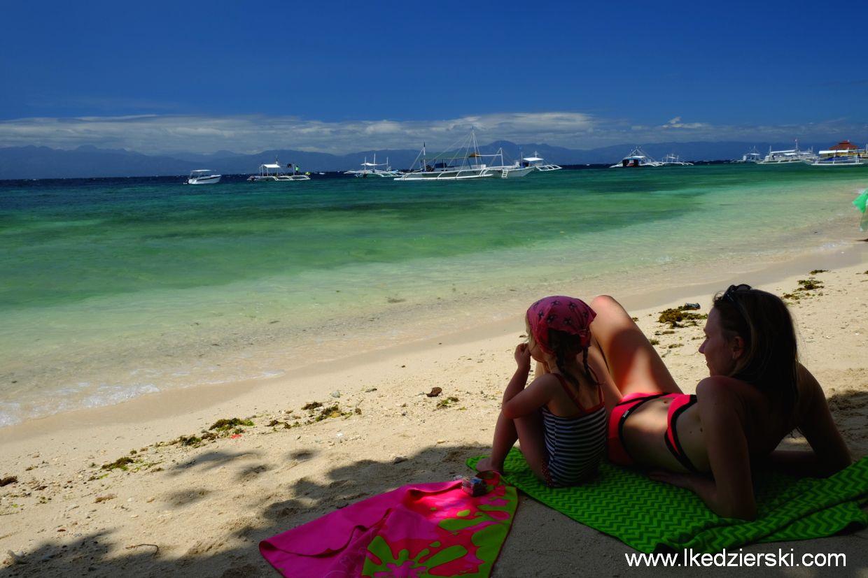 panagsama beach plażowanie na filipinach