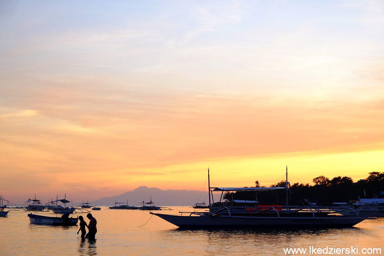 filipiny panglao alona beach sunset