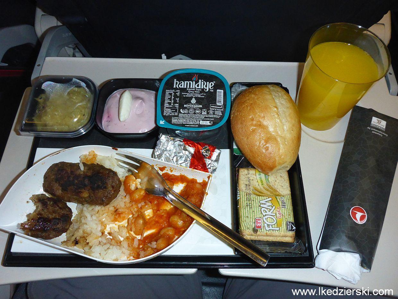 turkish airlines jedzenie