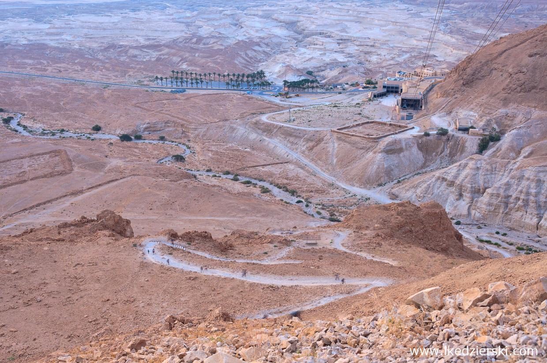 izrael masada twierdza snake path