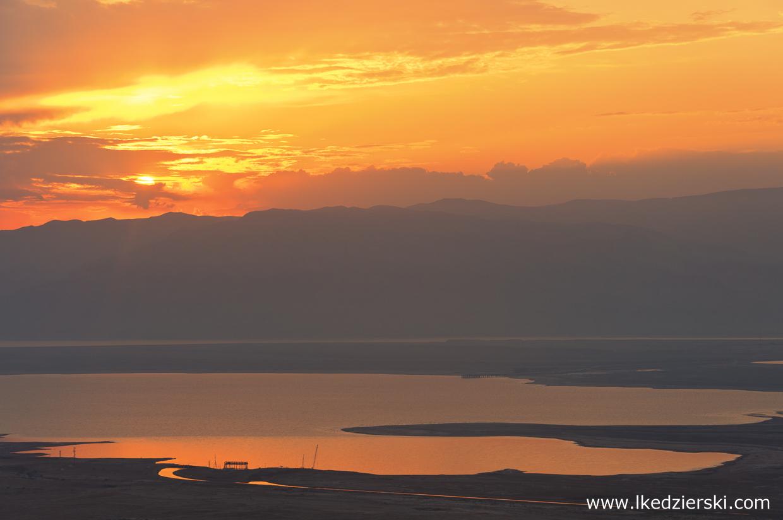 izrael masada twierdza sunrise