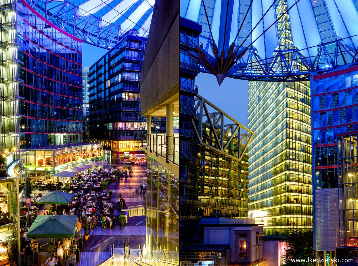 berlin sony center blue hour berlin na nocnych zdjęciach
