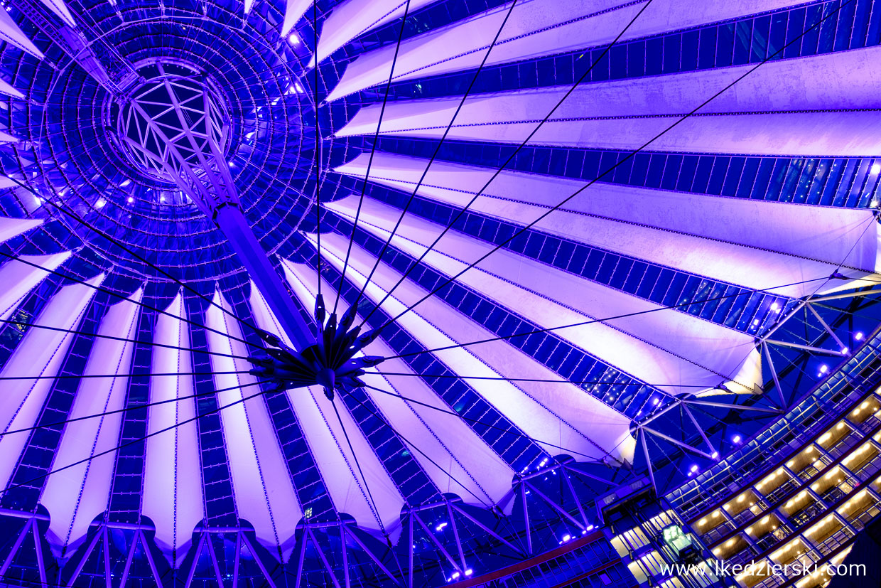 berlin sony center blue hour
