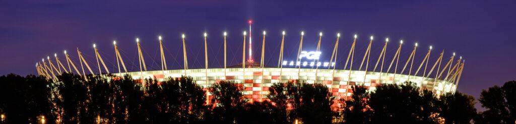 panorama warszawa nocą