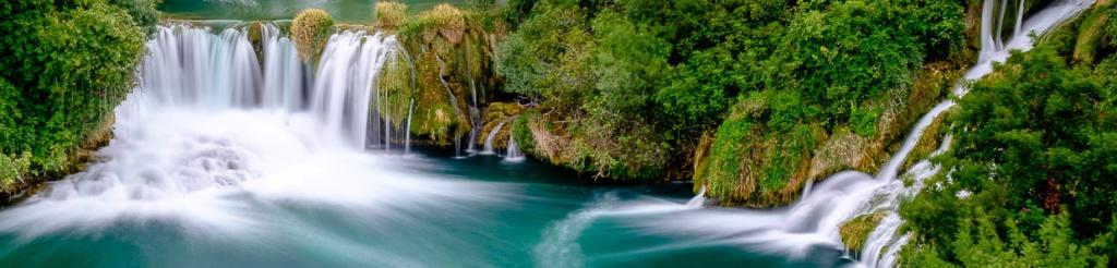panorama wodospady krka chorwacja