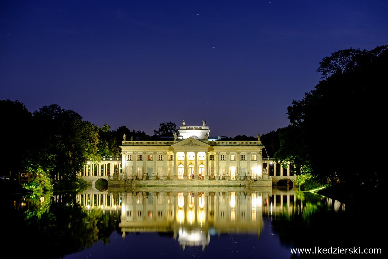 Łazienki Królewskie - Pałac na Wyspie.