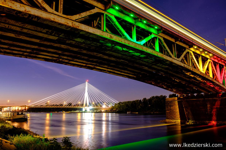 Warszawa. Most Świętokrzyski i Most Średnicowy.