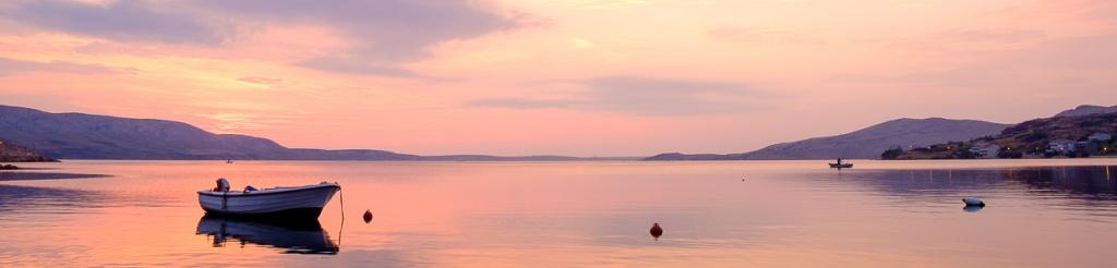 panorama wyspa pag metajna