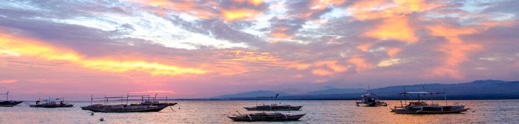 panorama filipiny zachód słońca sunset philippines