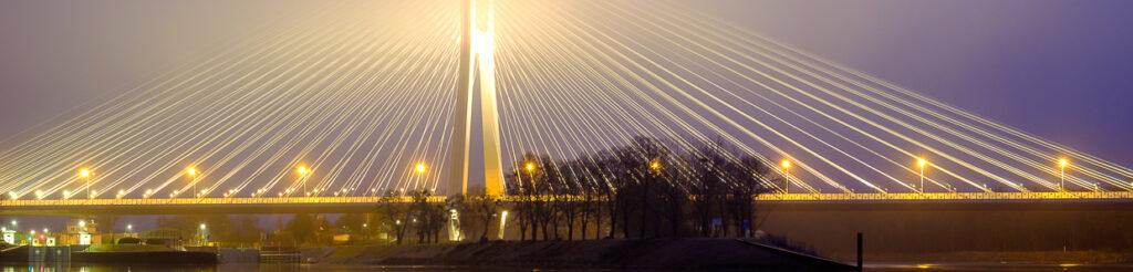 panorama most rędziński wrocław mosty wrocławia