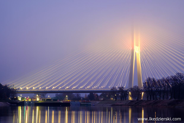 most rędziński wrocław mosty wrocławia wschód słońca misty sunset