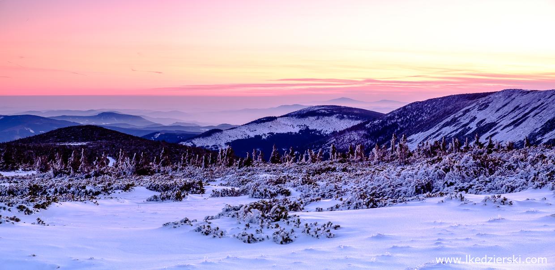 karkonosze wschód słońca sunrise wschód słońca w karkonoszach