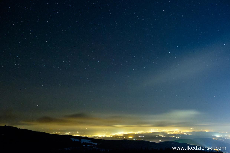 noc w karkonoszach nocne zdjęcia gór nocne zdjęcia karkonoszy