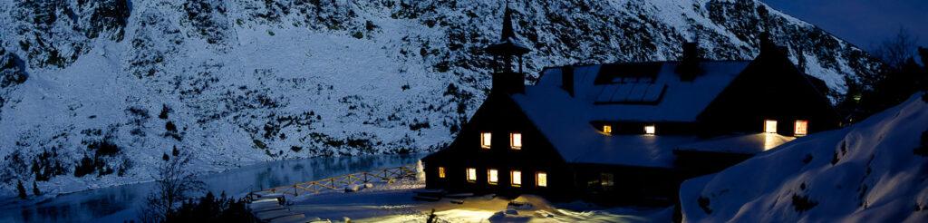 panorama noc w karkonoszach schronisko samotnia