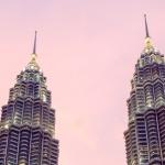 Petronas Towers o zachodzie słońca