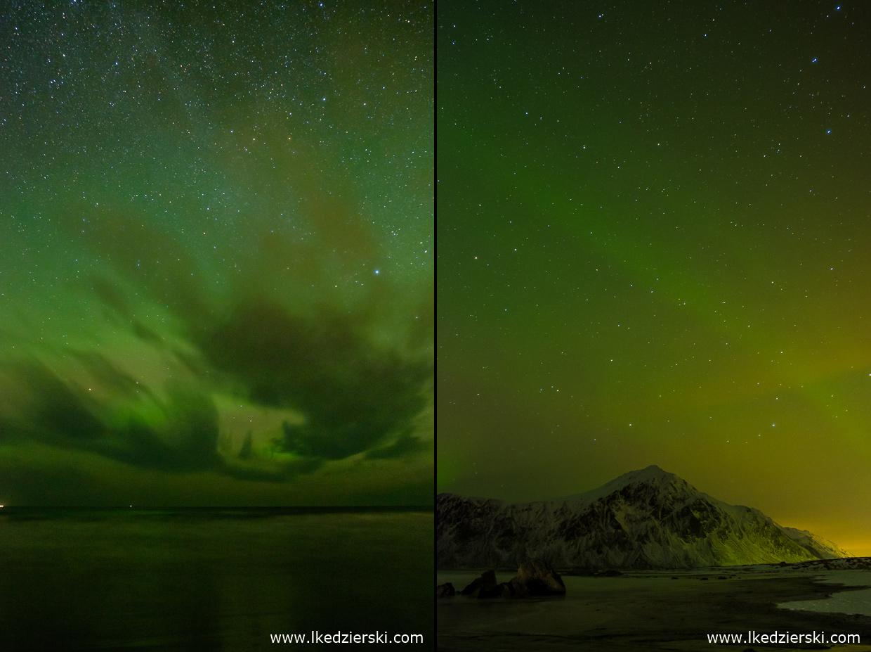 norwegia lofoty zorza polarna aurora borealis