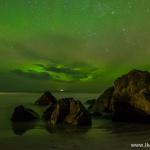 Polowanie na zorzę polarną (Aurora borealis) na Lofotach