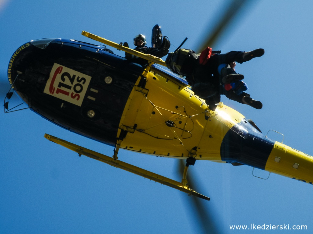 majorka kanioning helikopter akcja ratunkowa