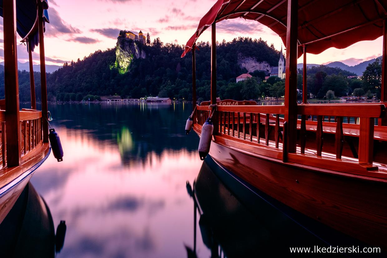 słowenia jezioro bled sunset zachód słońca