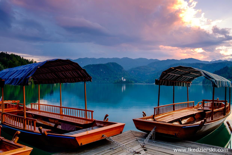 słowenia bled sunset zachód słońca bled