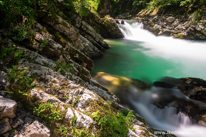 słowenia jezioro bled wąwóz vintgar