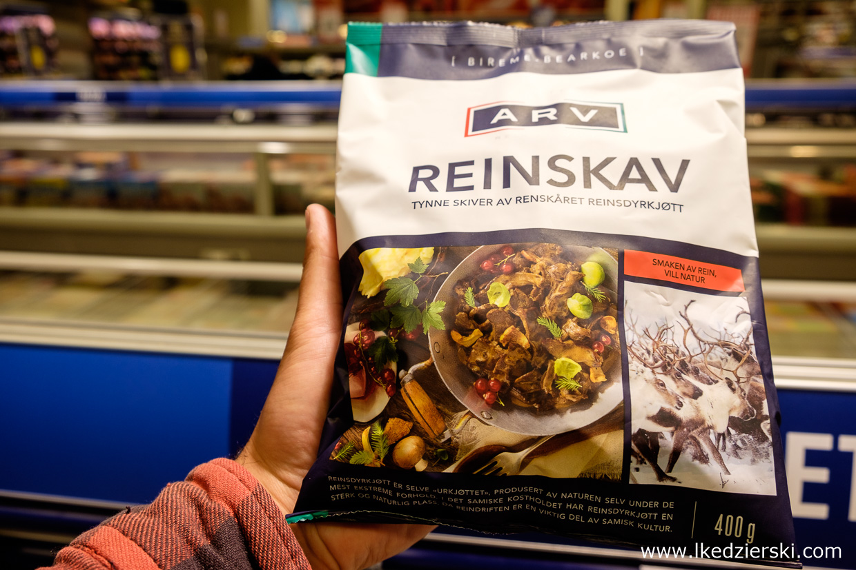 jedzenie w norwegii renifer na gulasz