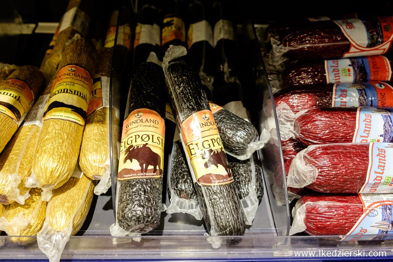 jedzenie w norwegii salami z łosia