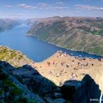 Preikestolen – jedna z największych atrakcji Norwegii