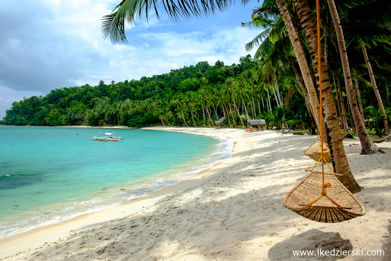 filipiny port barton plaża white beach hamak
