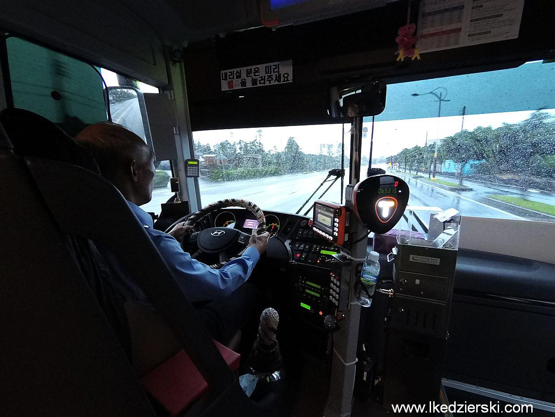 korea południowa kierowca autobusu