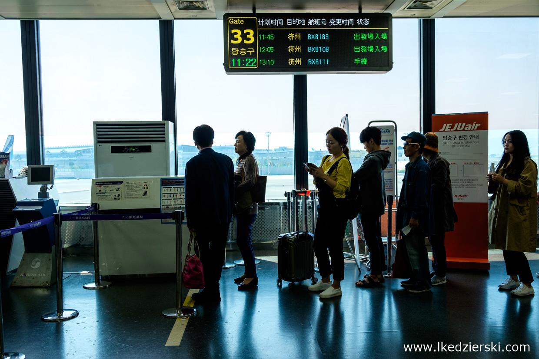 korea południowa lot na Jeju air busan lotnisko