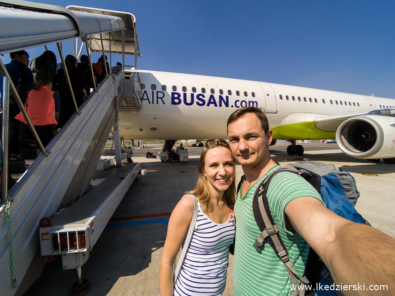 korea południowa lot na Jeju air busan