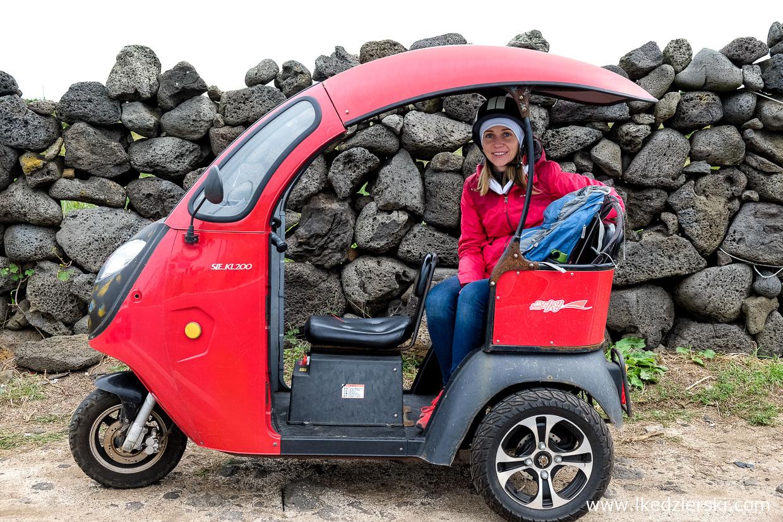 korea południowa transport wyspa jeju elektryczny tricykl