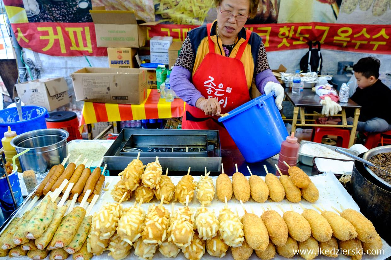 korea street food uliczne jedzenie w korei korean street food corn dog