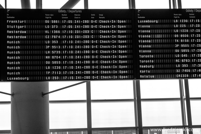 lotnisko samolot informacje praktyczne