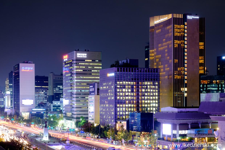 seoul korea południowa nocna fotografia