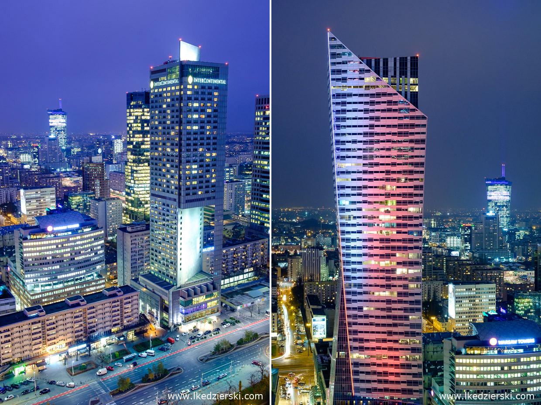 warszawa nocne zdjęcia zachód słońca Hotel InterContinental Warszawa złota 44