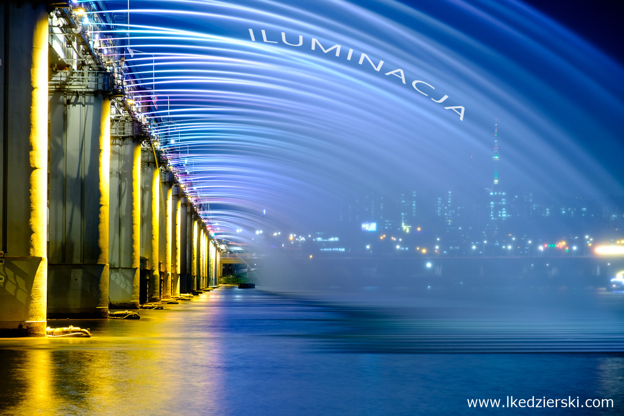 seoul seul banpo bridge rainbow fountain
