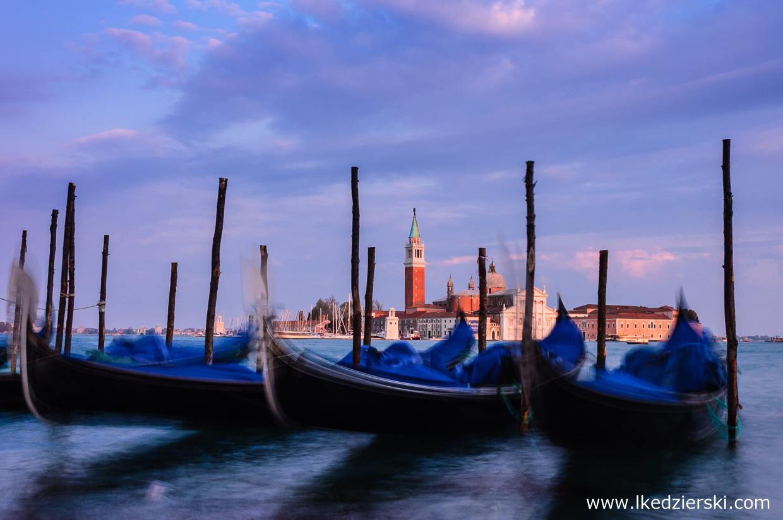 wenecja sunset zdjęcia photos zachód słońca gondola