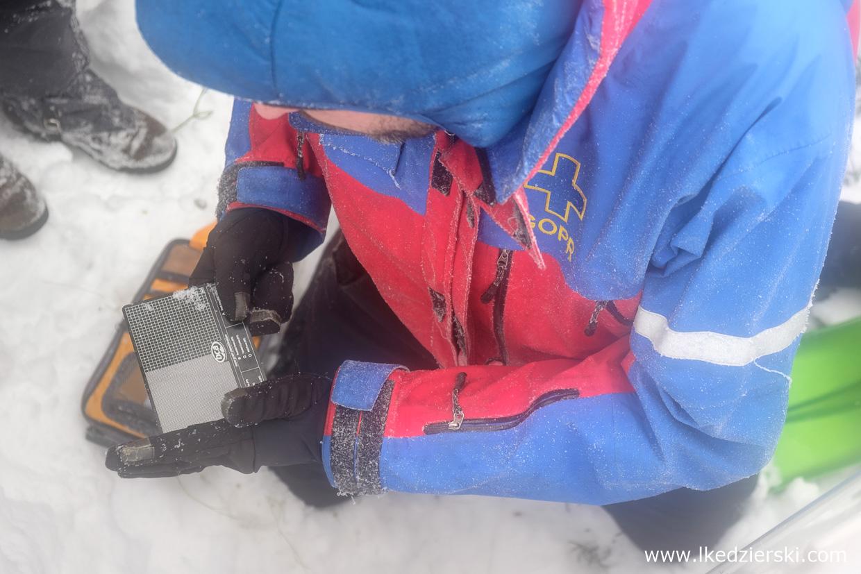 szkolenie lawinowe raki czekan detektor scw
