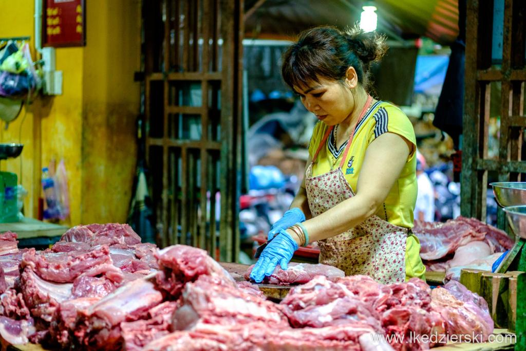 wietnam hoi an morning market targ jedzenie