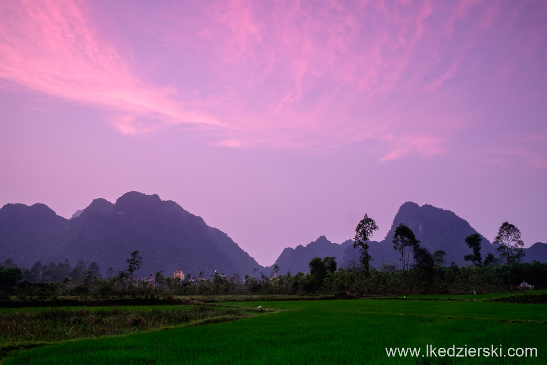 wietnam son trach sunset zachód słońca