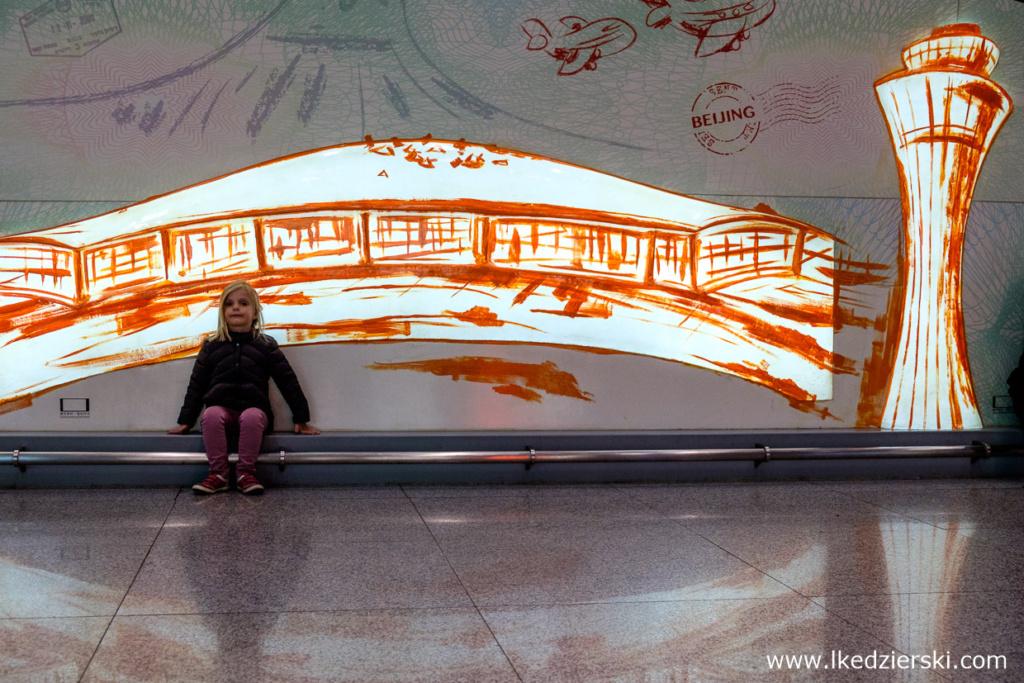 chiny pekin Nadia w podróży beijing airport