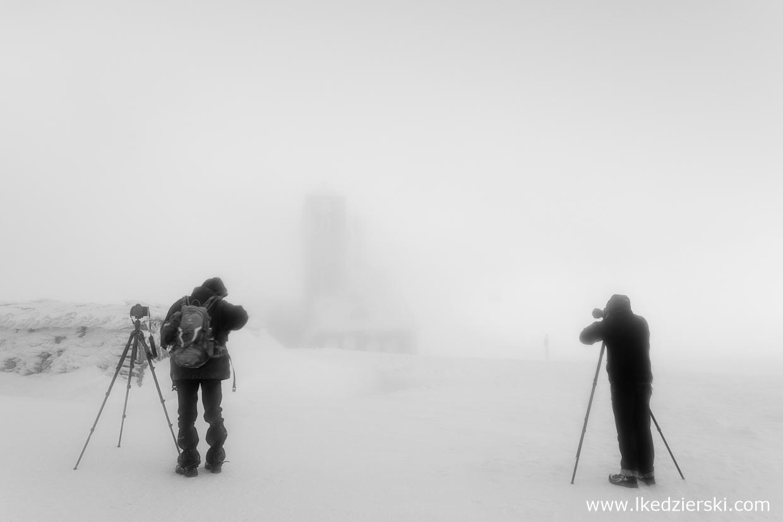 karkonosze zdjęcia czarno-białe black and white photography góry zimą