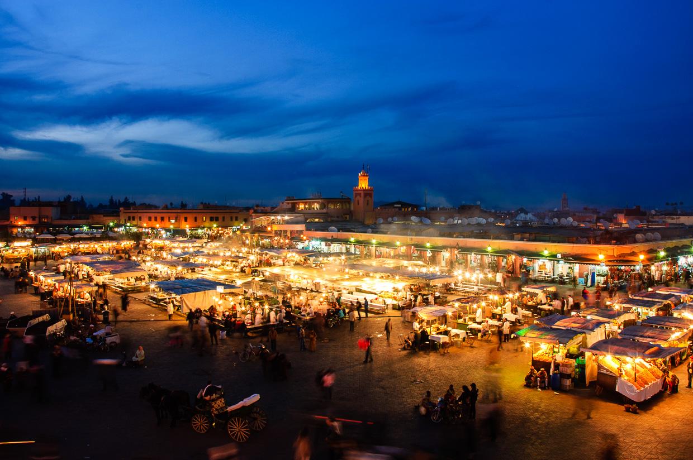 maroko atrakcje jemaa-el-fnaa atrakcje maroka