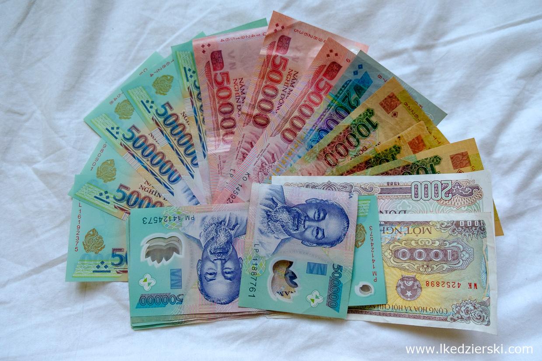 wietnam waluta pieniądze dong VND wietnam informacje praktyczne
