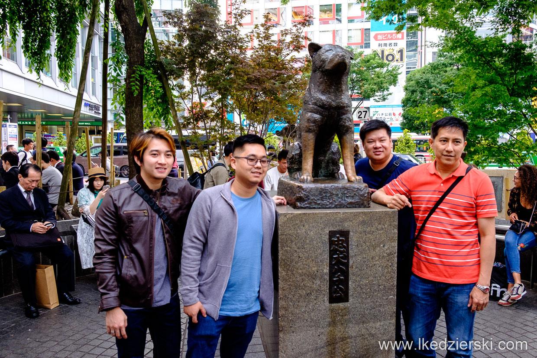 japonia tokio tokyo shibuya pies hachiko dog