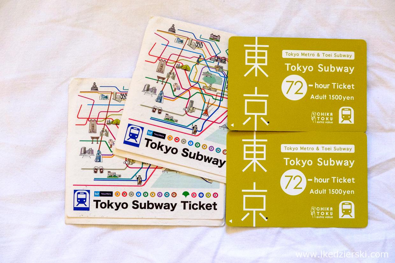 japonia informacje praktyczne tokyo subway ticket