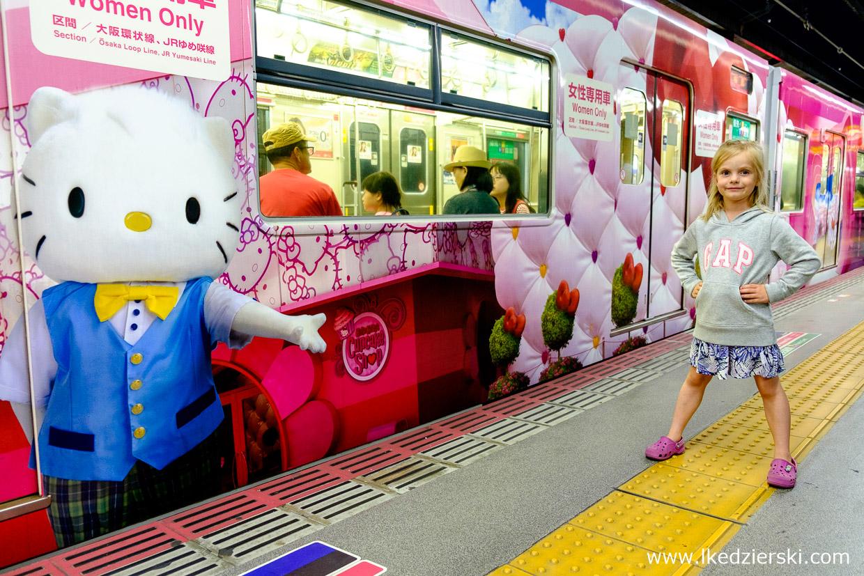 japonia nadia w podróży metro hello kitty